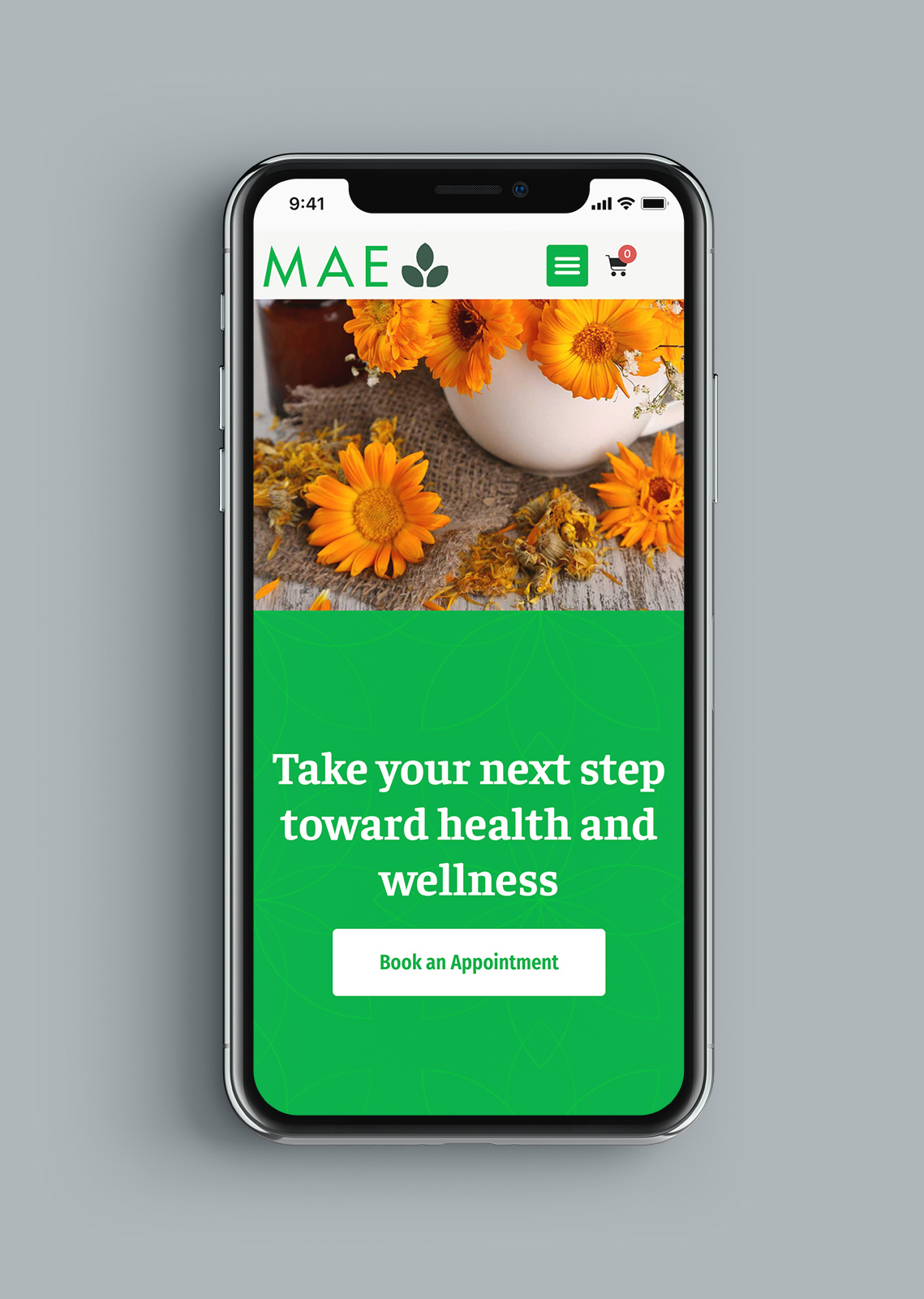 Mae Mind Body Website Mobile Health & Wellness